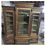VICTORIAN 3 SECTION BOOKCASE