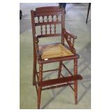 VICTORIAN CANE SEAT HIGH CHAIR