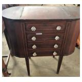 MARTH WASHINGTON SEWING TABLE WITH INLAY