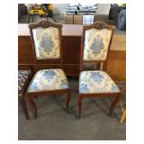 VICTORIAN UPHOLSTERED SIDE CHAIRS