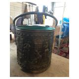 BAS RELIEF BRASS BUCKET