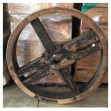 Wooden Pulley from Water Power Grist Mill