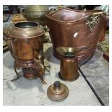 ASSORTED BRASS AND COPPER ITEMS