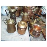ASSORTED BRASS AND COPPER ITMES