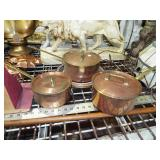 COPPER POTS WITH LIDS