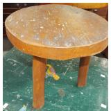 FOLKART WOOD STOOL