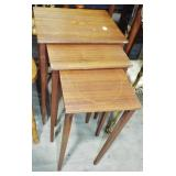 TAPERED LEG NESTING TABLES