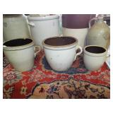 ASSORTED STONEWARE CROCKS & JUGS