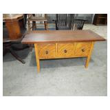 FANCY GRAIN PAINTED 3 DRAWER LOWBOY