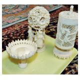 ASSORTED CARVED ITEMS