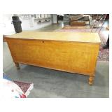 EARLY LARGE GRAIN PAINTED BLANKET CHEST
