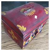 DECORATIVE TOLEWARE DEED BOX