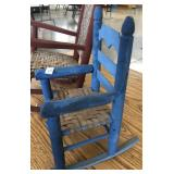 BLUE PAINTED CHILD ROCKING CHAIR