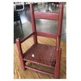 SALMON PAINTED CHILD CHAIR