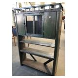 PRIMITIVE PIE CABINET WITH GALLERY TOP