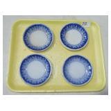 4 FLO BLUE BUTTER PATS