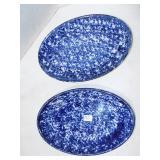 BLUE SPONGEWARE PLATTERS