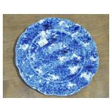 FLO BLUE SPONGEWARE DECORATED PLATE
