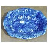 FLO BLUE SPONGEWARE DECORATED BOWL
