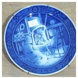 1974 GEORG JENSEN BLUE PICTORIAL PLATE