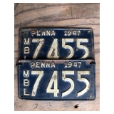 1947 PA TAGS