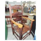early ladder back arm chair