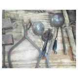 ladles ice tongs and tools