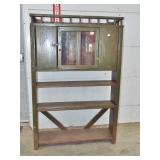 early gallery top bucket bench pie safe