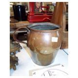 large handled copper mug