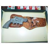 Hubley cap pistol with case