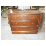 EASTLAKE BUTTER PRINT CARVED 3 DRAWER CHEST