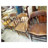 4 VICTORIAN FIREHOUSE CHAIRS