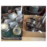 BRACKET OIL LAMP AND JARS