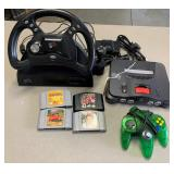 Nintendo 64 Game System with 4 - Games