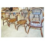 4 WINDSOR STYLE CHAIRS