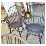 2 MORTISE SEAT BACK CHAIRS