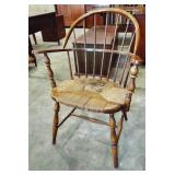 BOW BACK RUSH SEAT WINDSOR STYLE CHAIR