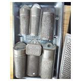 ASSORTED TIN NUTMEG GRATERS