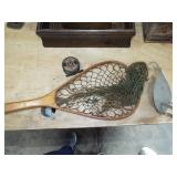 FLY REEL AND RETRO WOOD LANDING NET
