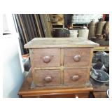 4 DRAWER WOODEN SPICE BOX