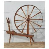 EARLY LARGE FLAX WHEEL