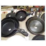 CAST IRON FRY PANS
