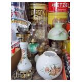 ASSORTED OIL LAMPS