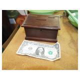 SMALL DOVETAIL WOOD BANK BOX