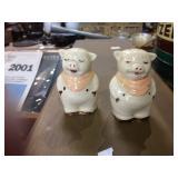 RETRO PIG SALT AND PEPPER SHAKERS