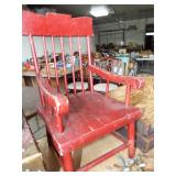 EARLY CHILD SPINDLE BACK ARM CHAIR