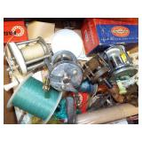 VINTAGE FISHING REELS AND MISC