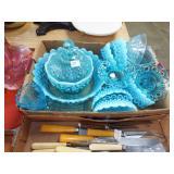 BLUE OPAL GLASSWARE