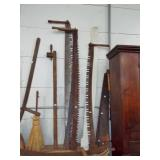 ANTIQUE SAWS AND MISC