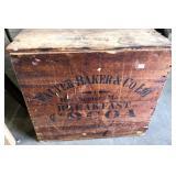 PRIMITIVE WALTER BAKER WOOD COCOA BOX